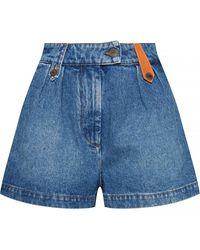 Loewe Shorts With Logo - Blue