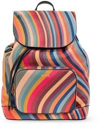 Paul Smith Leather Backpack - Multicolour