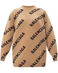 Balenciaga Jumper With Logo Brown