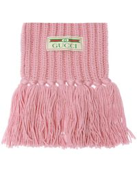 Gucci - Woven Scarf With Logo - Lyst