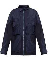 White Mountaineering Jacket With Logo - Blue