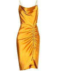 Samsøe & Samsøe Gathered Dress - Orange