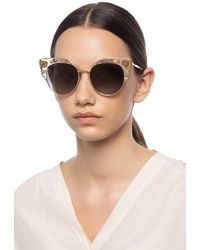 Jimmy Choo 'audrey' Sunglasses With Swarovski Crystals - Multicolour