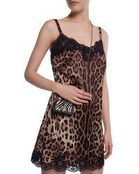"Dolce & Gabbana Mini ""devotion"" Animal Print Bag - Black"