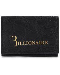Billionaire Leather Card Holder Black