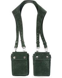 Amiri Leather Harness Bag Green