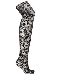 Versace Lace Tights - Black