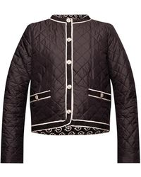 Ferragamo Quilted Jacket Black