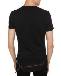 Saint Laurent Branded Belt Bag - Black