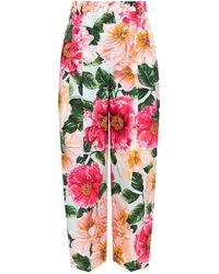 Dolce & Gabbana Patterned Pleat-front Trousers Multicolour
