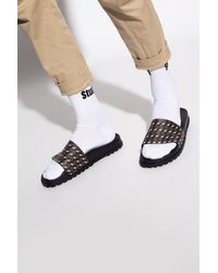 DSquared² Slides With Logo - Brown