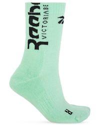 Reebok X Victoria Beckham Logo Socks Green