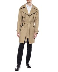 DSquared² Double-breasted Trench Coat Beige - Natural