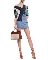 Ferragamo Colour-block Cardigan - Blue