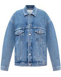 Balenciaga - Washed-out Denim Jacket Blue - Lyst