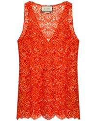 Gucci - Lace Top - Lyst