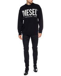 """DIESEL """"s-gir-division-logo"""" Sweatshirt - Black"""
