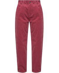 Samsøe & Samsøe High-waisted Corduroy Trousers Pink