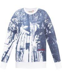Alexander McQueen Printed Sweatshirt White