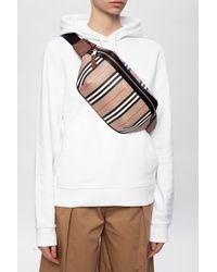 Burberry Belt Bag With Logo Beige - Brown