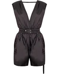 Rick Owens DRKSHDW short-legged Jumpsuit - Black