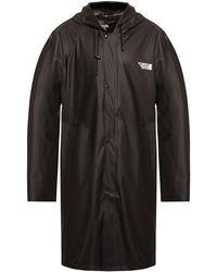 Vetements Coat With Logo - Black