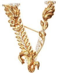 Versace Logo Brooch - Metallic