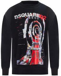 DSquared² Printed Sweatshirt - Black