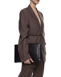 Bottega Veneta 'intrecciato' Weave Clutch Unisex Black