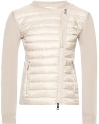 Moncler - Quilted Front Sweatshirt - Lyst