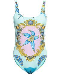 Versace One-piece Swimsuit - Blue