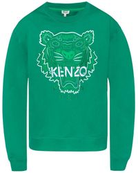 ee3375804128d KENZO Burgundy Tiger Motif Sweatshirt in Red for Men - Lyst