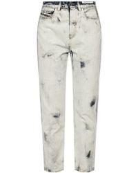 DIESEL 'd-eiselle' Printed Jeans Light Blue