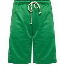 Gucci Side Stripe Sweat Shorts - Green