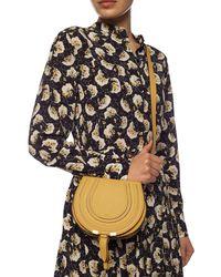 Chloé Marcie Mini Dusty Yellow Leather Cross Body Bag