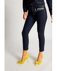 Lanvin High-waisted Jeans Navy Blue