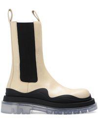 Bottega Veneta 'the Tire' Platform Chelsea Boots - Black