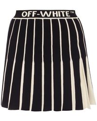 Off-White c/o Virgil Abloh Contrasting Pleated Skirt - Black