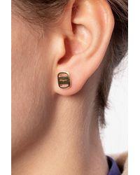 Ferragamo Earrings With Logo Gold - Metallic