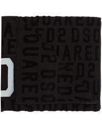 DSquared² Logo-embroidered Towel - Black