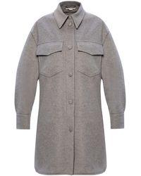 Stella McCartney Wool Coat - Grey