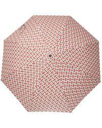 Burberry Patterned Umbrella - Natural