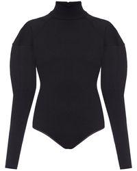 Alaïa Turtleneck Bodysuit Black