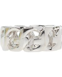 Givenchy Ring With Logo Silver - Metallic