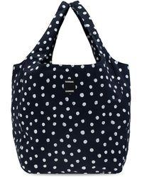Samsøe & Samsøe Shopper Bag With Polka Dots - Blue