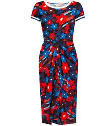 Marni Patterned Dress Multicolour - Red