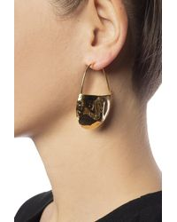 Marni Hanging Earrings Gold - Metallic
