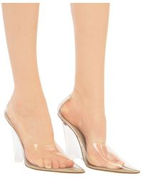 Yeezy Transparent Shoes On Wedges Beige - Natural