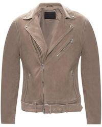 AllSaints 'inigo' Biker Jacket Gray