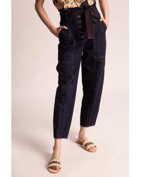Ulla Johnson 'brier' High-waisted Jeans Navy Blue